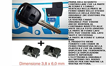 G.M. Production - 1383 Kit + 2SW1 - Juego de llave, carcasa ...