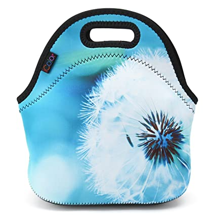 6520f26d3c07 ICOLOR Dandelion Insulated Neoprene Lunch Bag Tote Handbag lunchbox Food  Container Gourmet Tote Cooler warm Pouch For School work Office