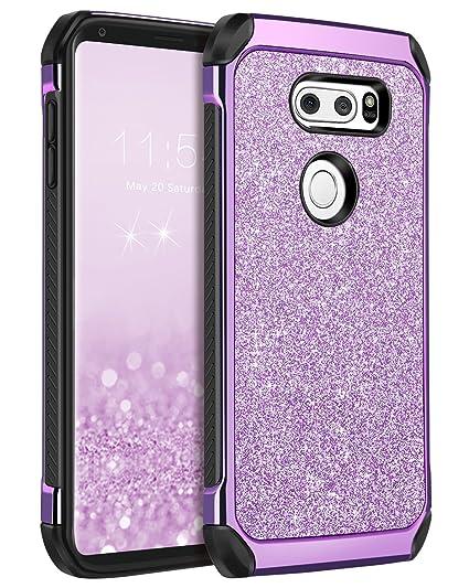 super popular 777b0 f4a71 BENTOBEN LG V30 Case, LG V30+ Case, LG V35 ThinQ Phone Cases, LG V30S ThinQ  Cell Phone Case,Slim 2 in 1 Glitter Bling Sparkly Cover, Heavy Duty ...