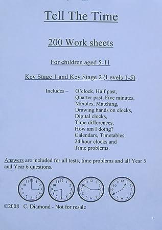 200 Time Arbeitsblättern KS1 KS2, pdf Datei und der Möglichkeit ...