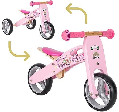 Bikestar Bicicletta Senza Pedali E Triciclo 2 In 1 In Legno Per Bambino Et Bambina Da 18 Mesi Bici Senza Pedali Bambini 7 Pollici