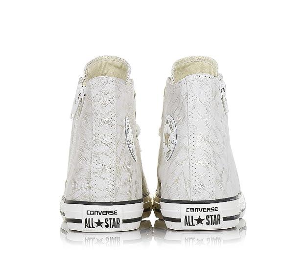 Converse - Converse Ctas Side Zip S Scarpe Sportive Pelle Beige Oro   Amazon.it  Scarpe e borse dec8d785bdc