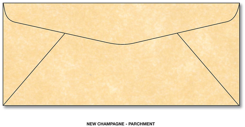 Superfine Printing Inc. Pergament New Champagne 10 Geschä fts Grö ß e Umschlä ge 100 Umschlä ge ENV-439