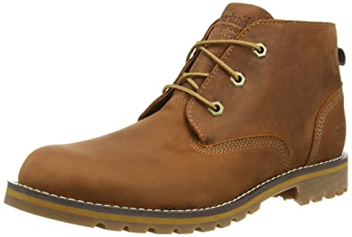 Timberland Mens Larchmont Waterproof Chukka - CA12ES Glazed Ginger (Brown) Mens  Boots 8.5 US