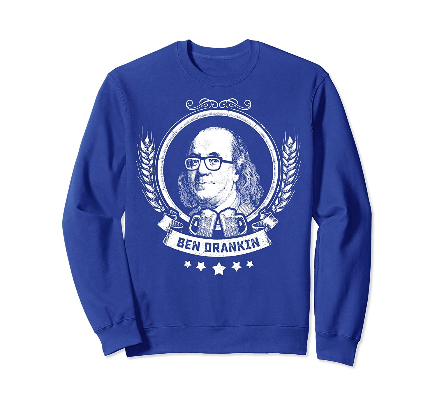 4th July Shirts for Men - Drinking Ben Drankin Sweatshirt-mt