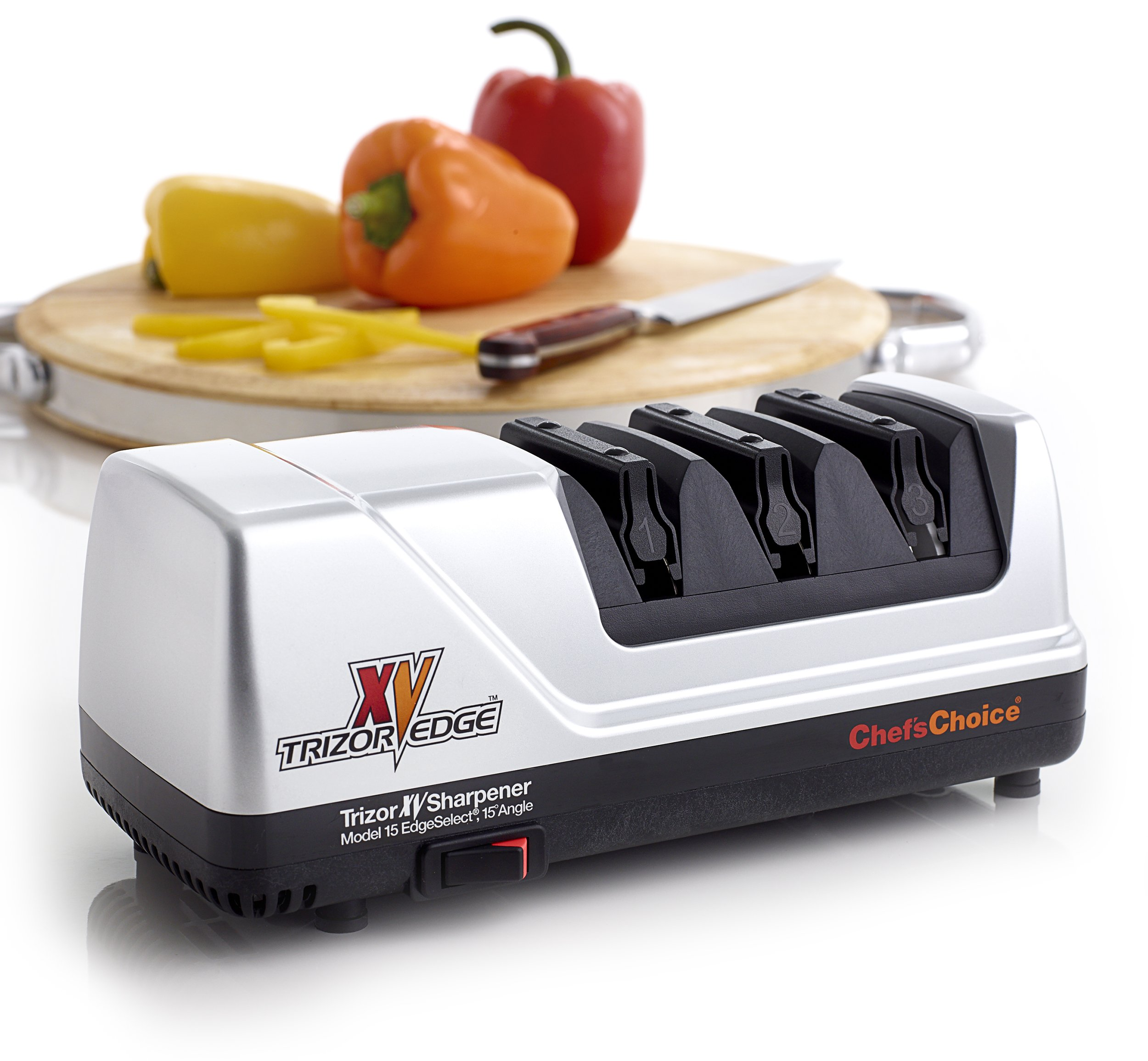 Chef's Choice 15 Trizor XV EdgeSelect Electric Knife Sharpener, Platinum by Chef'sChoice (Image #2)