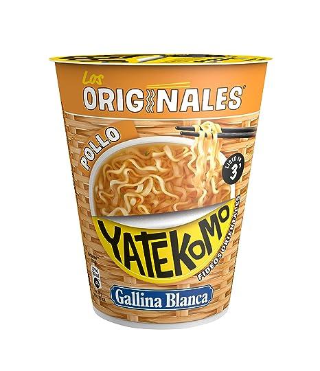 Yatekomo Los Originales Pollo Fideos - Paquete de 8 x 60 gr - Total: 480