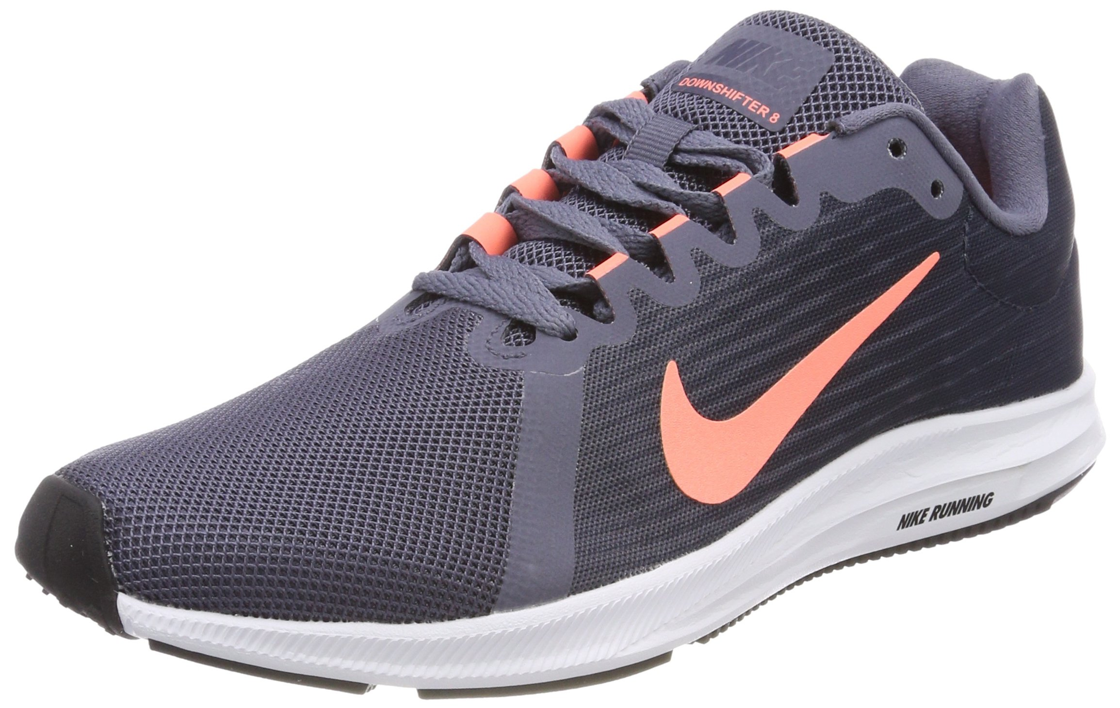 sports shoes 9f2ae b3d72 Galleon - Nike Women's Downshifter 8 Running Shoe Light Carbon/Crimson  Pulse/Thunder Blue Size 8 M US
