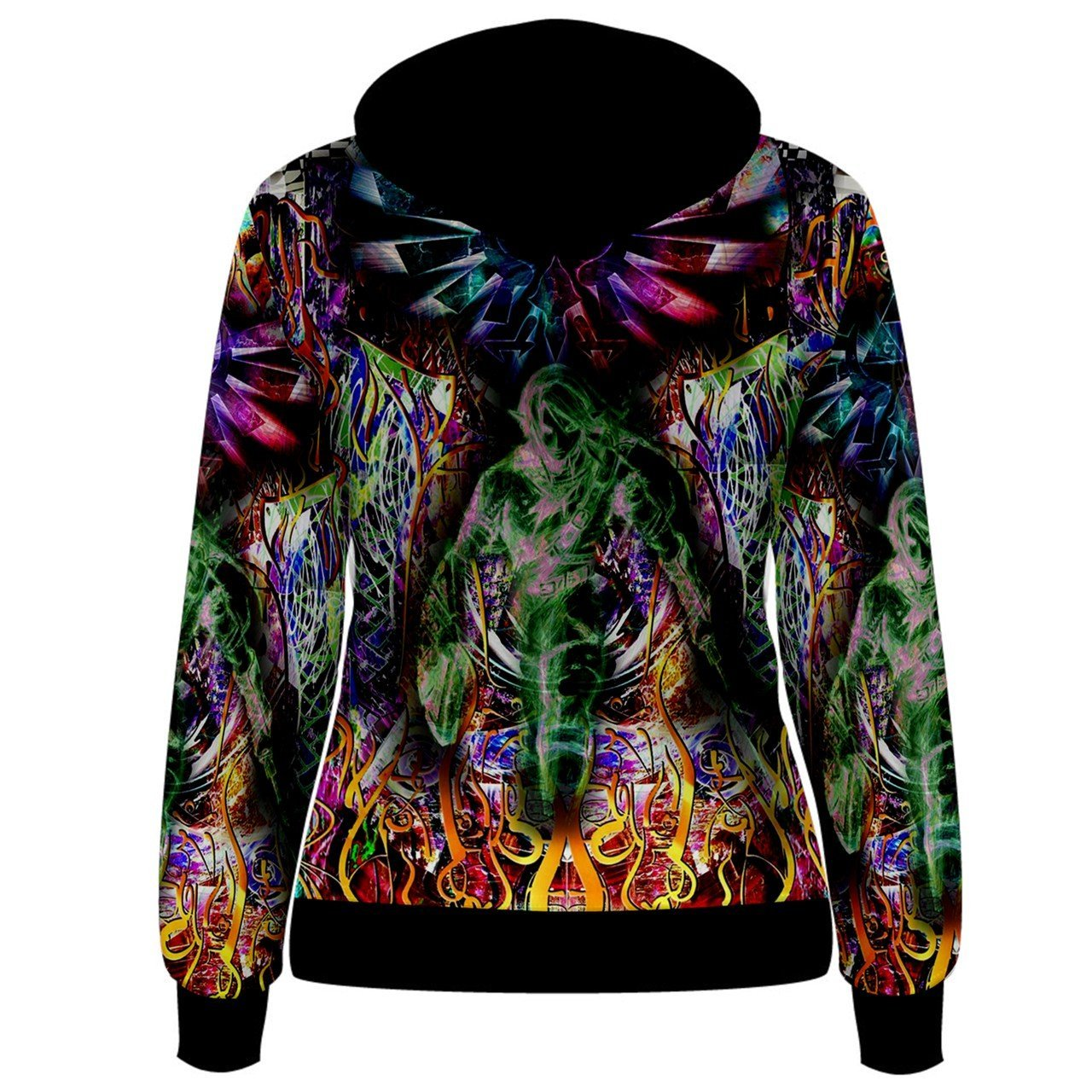 f3a8caec24a Amazon.com   Legend Of Zelda Triforce Trippy Psychedelic Hippie Custom Full  3D Print Women Hoodie Sweaters   Sports   Outdoors