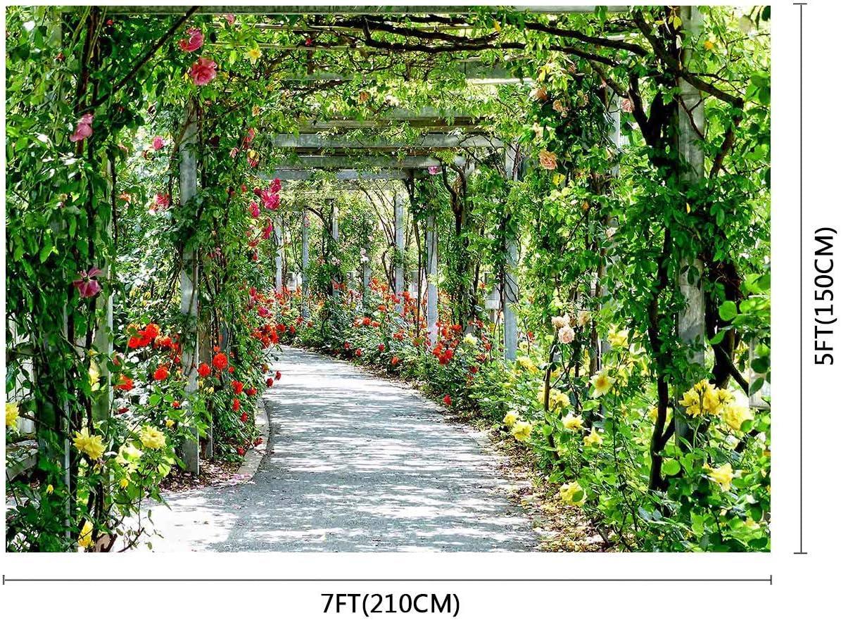 10x8ft Background Green Yard Photography Backdrop Photo Studio Props LHFU262