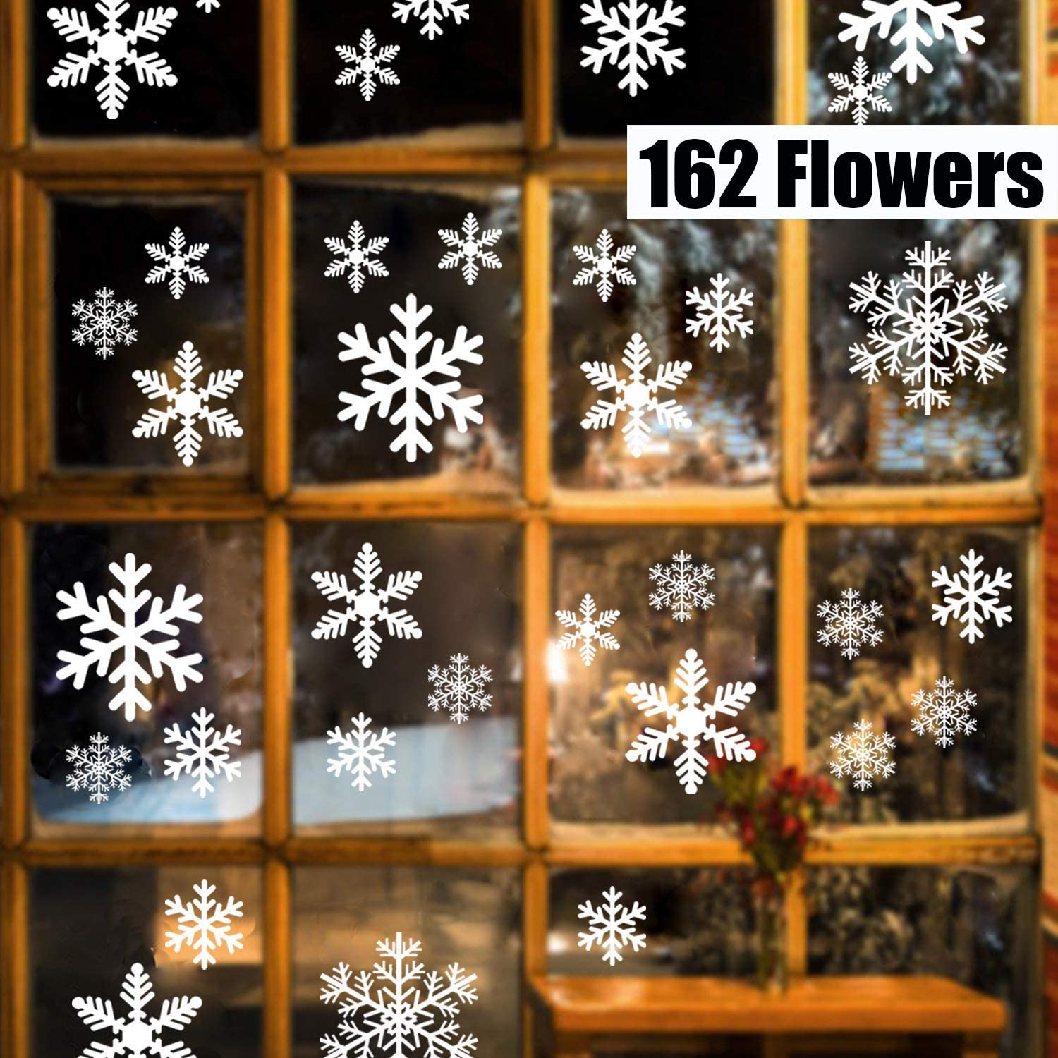 Snowflakes Window Clings PVC White Window Sticker Removable Special