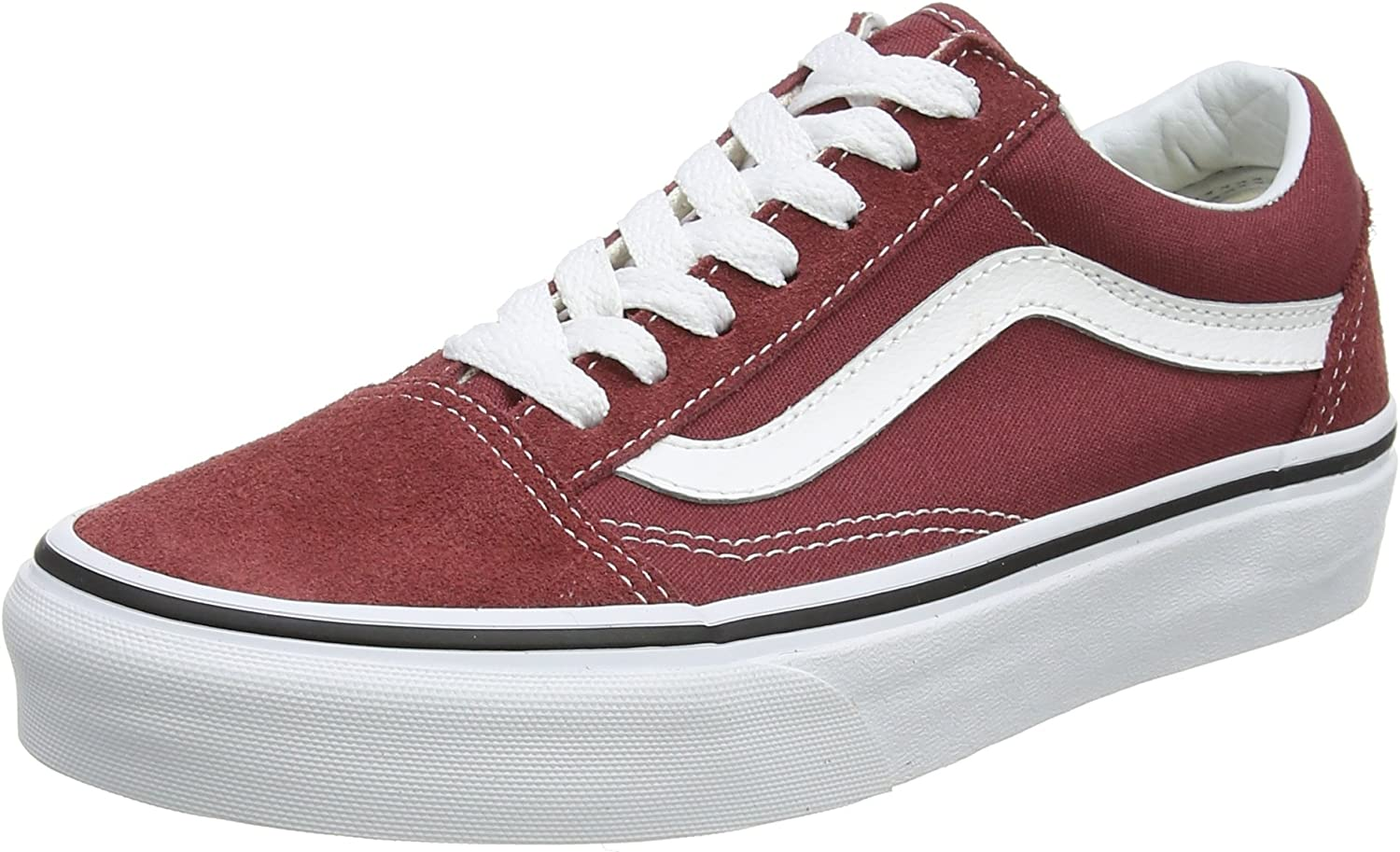 Vans Unisex Adults' Old Skool Trainers, Red (Apple Butter/True White Q9S),
