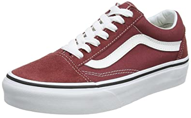 9aa7df539c60 Vans Adults  Old Skool Trainers Red (Apple Butter True White Q9S) 3