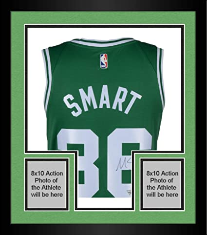 purchase cheap c570d 28da4 Framed Marcus Smart Boston Celtics Autographed Green Nike ...