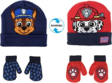 Nickelodeon boys Nickelodeon Paw Patrol Baseball Hat Cold Weather Hats and Mitten Set Cold Weather Accessory Set