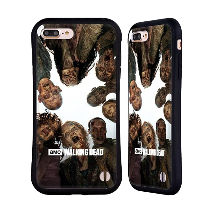Official AMC The Walking Dead Walker Group Walkers and Characters Hybrid  Case for iPhone 7 Plus/iPhone 8 Plus