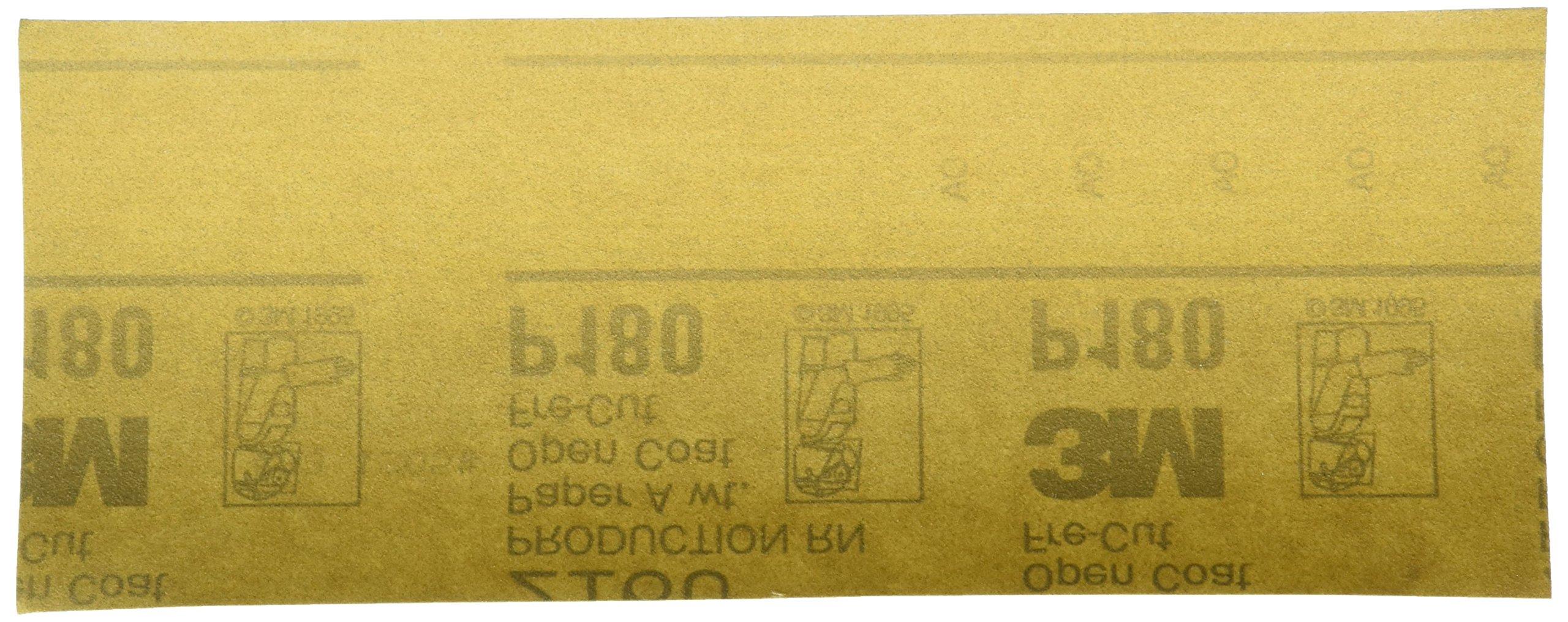3M 02553 Production Gold 3-2/3'' x 9'' P180A Grit Resinite Sheet