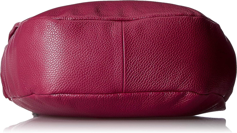 Mandarina Duck Damen Mellow Leather Tracolla Schultertasche, 11x28x30 cm Rot (Red Plum)