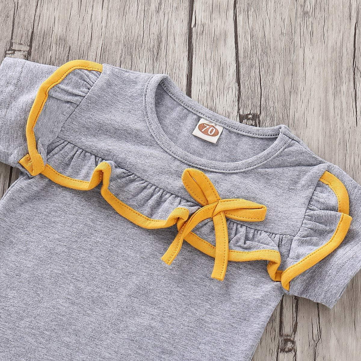 Beb/é Camiseta de Manga Corta Tops Pantalones Cortos Conjunto de Conjuntos a Juego de Brother y Sister
