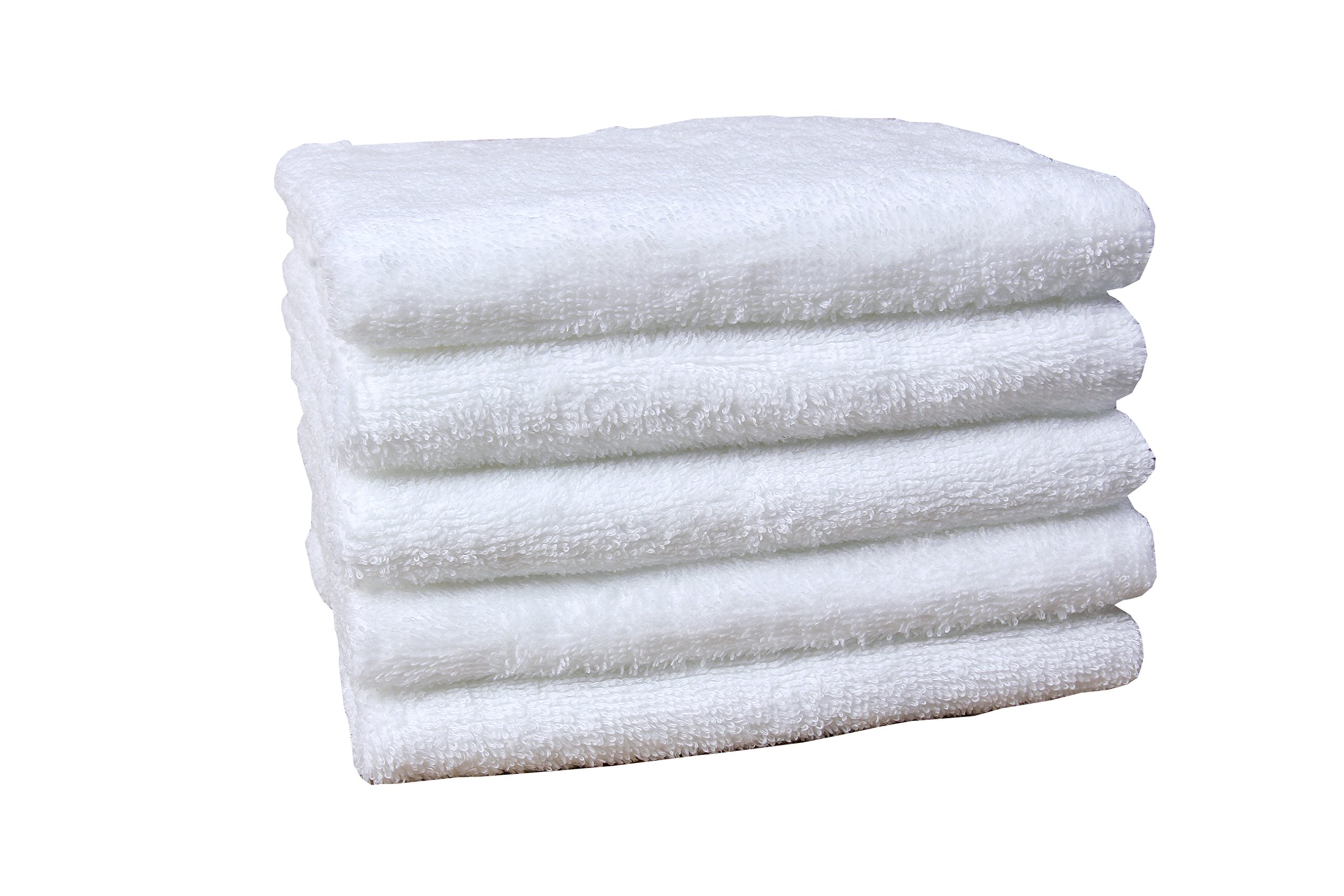 Jonny&Lora Compressed Hand Towels (5-packs, 12''x27'', White 100% Cotton) , Carry-on,Durable, Lightweight, Commercial Grade and Ultra Absorbent
