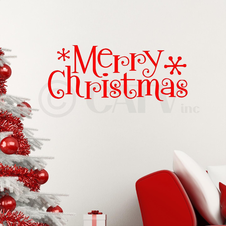 Amazon.com: Merry Christmas Wall Saying Vinyl Lettering Home Decor ...
