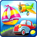Transport for preschool kids - toddler educational game for learning air, water, land vehicles and sounds of transportation: a car, a train, an aircraft, a ballon, a boat, etc. The game includes puzzles and repairing to learn transporting better.