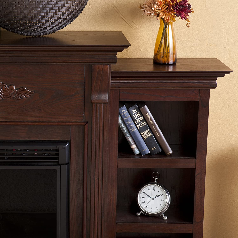 Amazon.com: SEI Tennyson Electric Fireplace with Bookcases ...