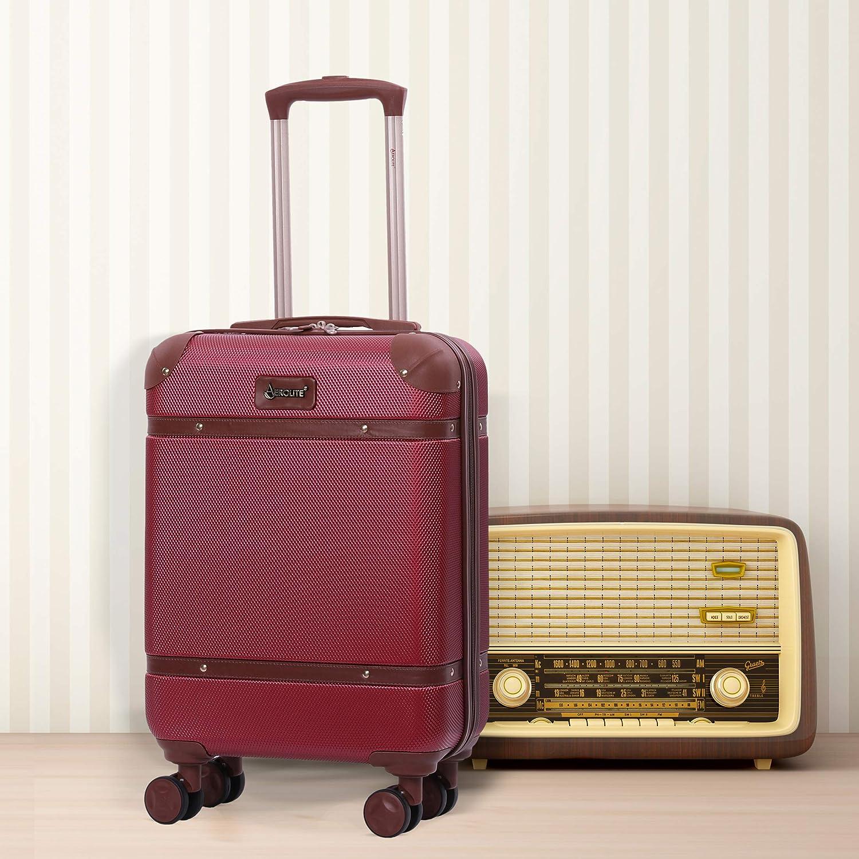 Cr/ème Aerolite Set de 3 Valises /à Coquille Dure en R/étro Vintage Moderne Stylis/ée avec 4 Roues jumel/ées pivotantes 55cm 72.5cm 82cm