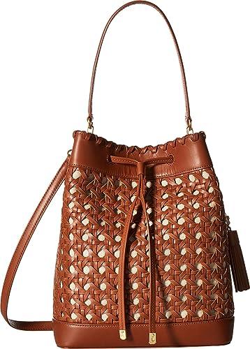 a6c2f9557d06 LAUREN Ralph Lauren Women s Portwood Debby Drawstring Medium Field Brown  One Size  Handbags  Amazon.com