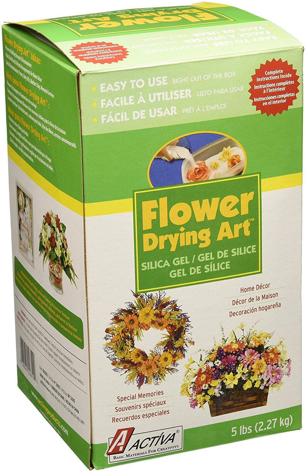 Amazon Activa Silica Gel For Flower Drying 5 Pound Arts