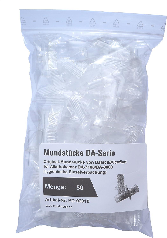 Boquilla higi/énica para alcohol/ímetro//Boquilla original del fabricante para modelo DA-7100 /paquete de 50/unidades Alcofind DA-8500E/ Alcofind DA-8000