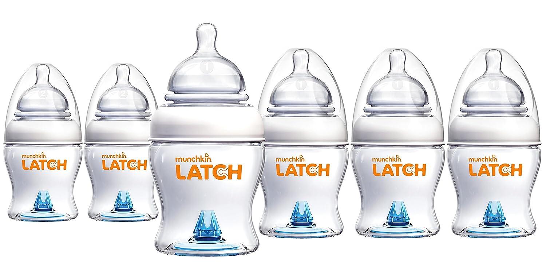 Munchkin Latch BPA-Free Bottle, 6 Count, 4 Ounce