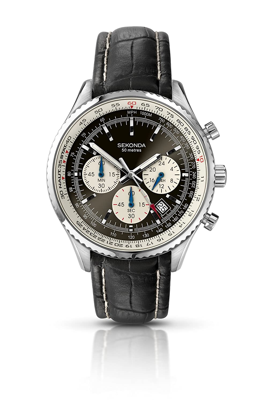 Sekonda Herren-Armbanduhr chronograph quarz 3408.27