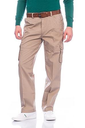 bd7fecc89710 Fashion Herren Cargo Hose mit Dehnbund ID350  Amazon.de  Bekleidung