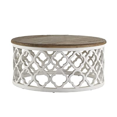 Amazoncom Modern Rustic Reclaimed Wood Moroccan Accent Cocktail - Moroccan outdoor coffee table
