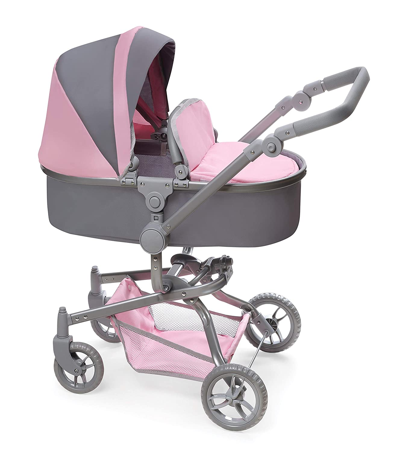 Badger Basket Daydream Multi-Function Single Doll Pram and Stroller (fits American Girl Dolls)