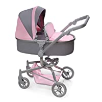 Badger Basket Daydream Multi-Function Single Doll Pram and Stroller (fits American...