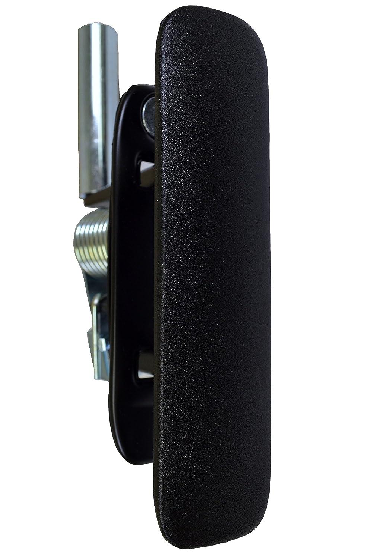 Passenger Side Rear Outside Sliding Door Handle Metal Black PT Auto Warehouse FO-3903A-R1