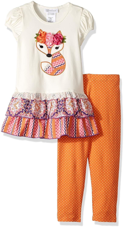 Bonnie Jean Little Girls Appliqed Dress and Legging Set 5 Elephant