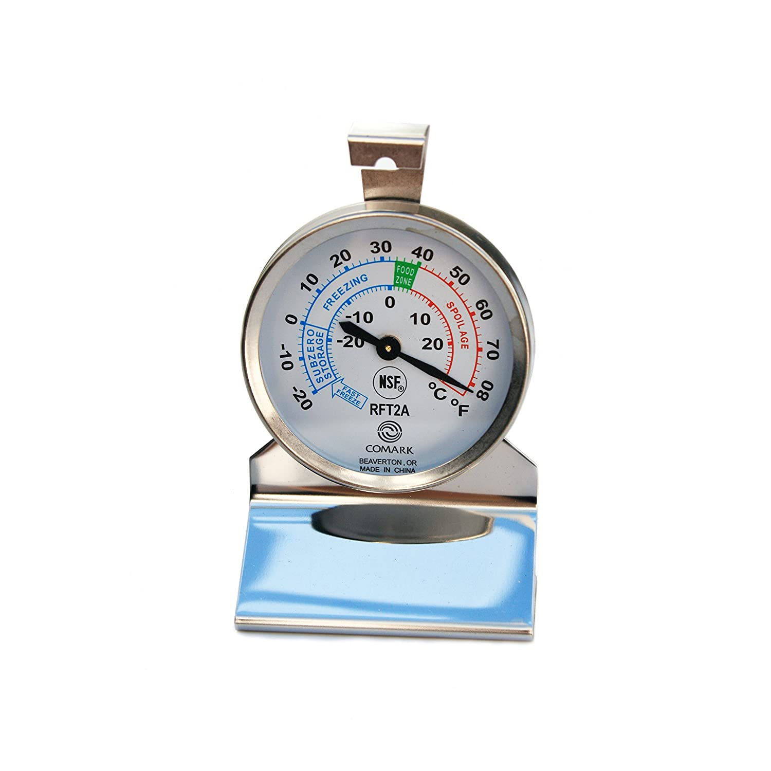 Comark Instruments | RFT2AK | Stainless Steel Refrigerator/Freezer Thermometer