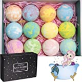 Bath Bombs with Different Effect and Different Fragrances, Gratified Bath Salt Rich in Vegan Pure Essential Oil and Sea…