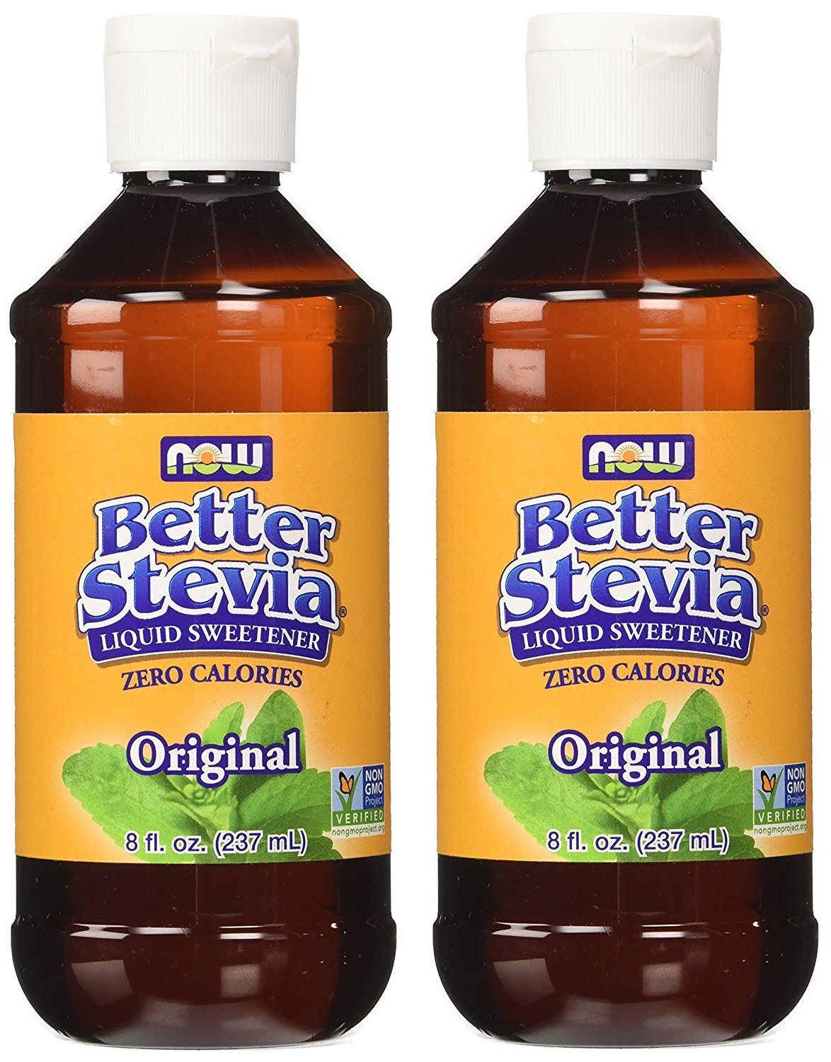 NOW Foods BetterStevia Liquid WYtYwD 8 oz (Pack of 2)