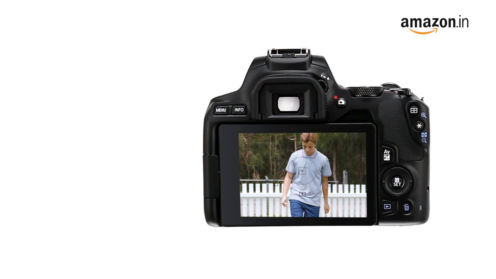 Canon EOS 200D II 24.1MP Digital SLR Camera + EF-S 18-55mm f4 is STM Lens (Black) 2