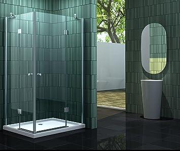 Mampara de ducha 120 x 80 x 195 cm sin NEOTEC: Amazon.es ...