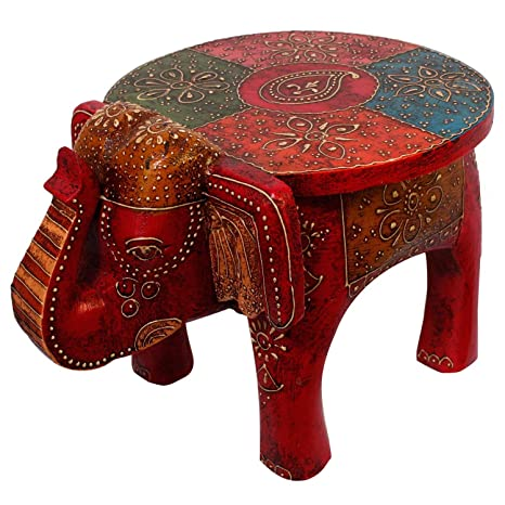 Pleasant Buy Elephant Wooden Stool Online At Low Prices In India Caraccident5 Cool Chair Designs And Ideas Caraccident5Info