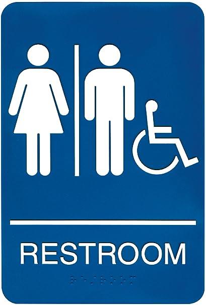 Amazoncom Headline Sign ADA Wheelchair Accessible Restroom - Unisex handicap bathroom sign
