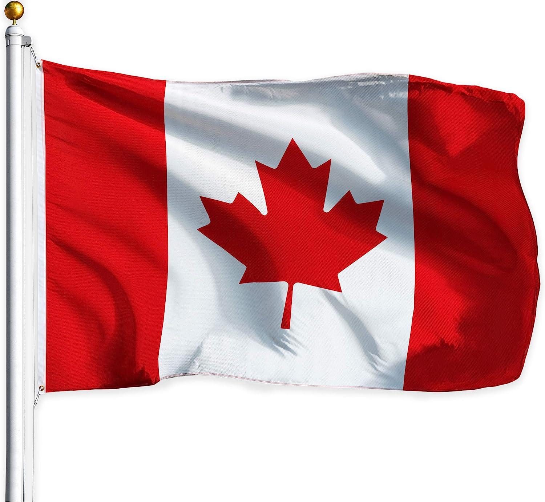 """CANADA 18/"""" x 12/""""  Cloth flag with hem"""