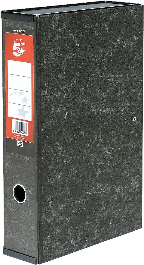 5 Star - Caja archivador con compresor de papeles y asa exterior (10 unidades, 70 mm, tamaño folio): Amazon.es: Oficina y papelería