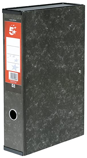 5 Star - Caja archivador con compresor de papeles y asa ...