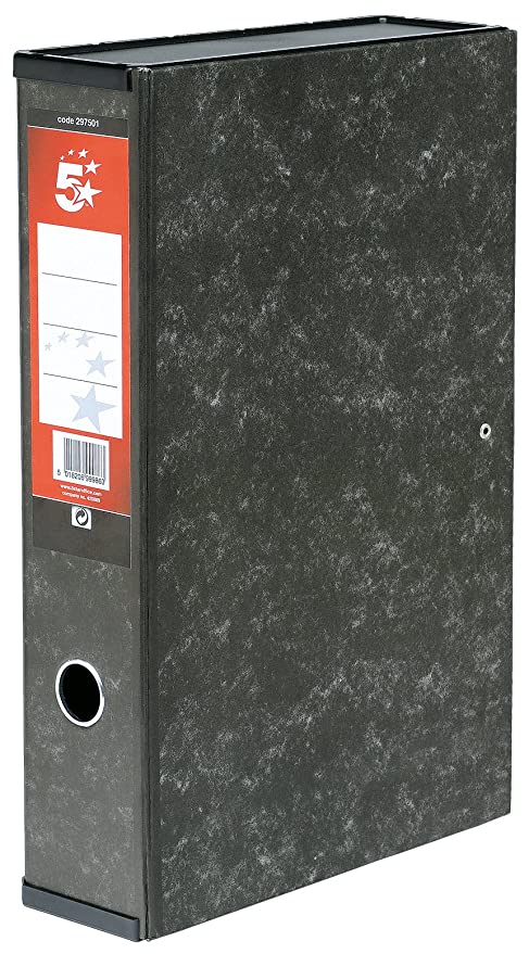 5 Star - Caja archivador con compresor de papeles y asa exterior (10 unidades,